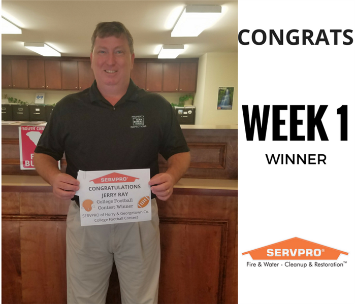 SERVPRO College Football Contest Winner Week 1