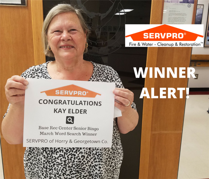 SERVPRO Senior Word Search Winner - March