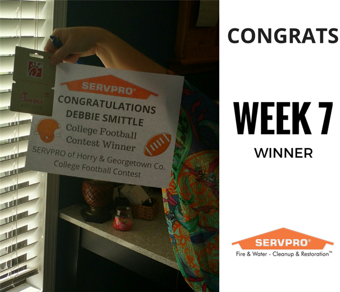 SERVPRO College Football Contest Winner Week 7