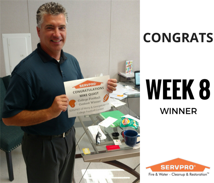 SERVPRO College Football Contest Winner Week 8